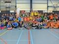 Meppel 23 febr. 2016: Spannend Badmintontoernooi Meppel Actief